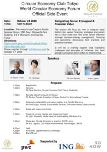 World Circular Economy Forum Official Side Event: Integrating Social, Ecological and Financial Value